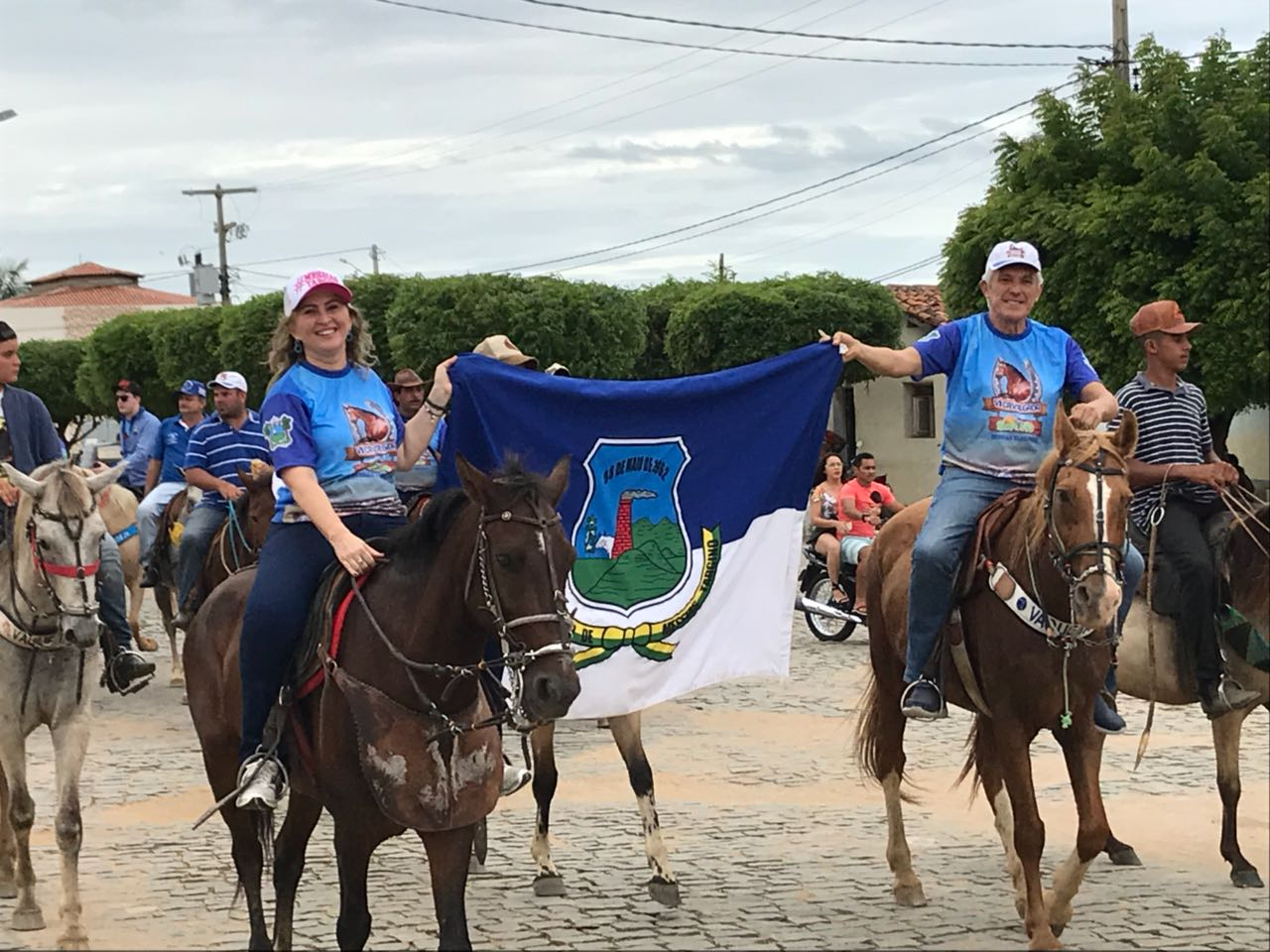 Shirley Targino e João Maia na Cavalgada do Sertão